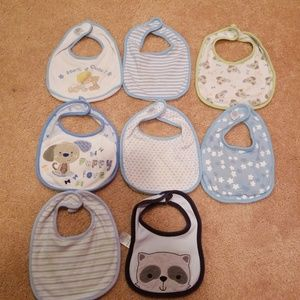 Other - 8-Pack Print & Graphic Bibs - Boys